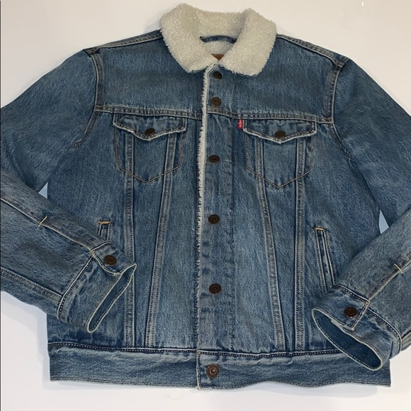 Levi's Other - Urban Outfitters X Levi's Denim Sherpa Jacket